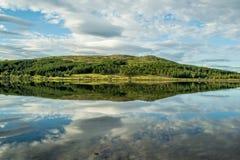 Sjö Hvaleyri Island Royaltyfri Fotografi