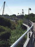 Sjö i den Magdeburg Tyskland Arkivfoton