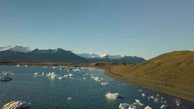 Is- sjö i Island stock video