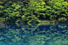 Sjö i jiuzhaigounationalparken, Sichuan, porslin royaltyfria foton
