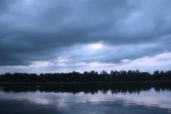 Sjö i Lettland Arkivfoto