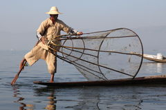 Sjö i Myanmar i vår Royaltyfria Bilder