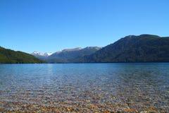 Sjö i Nahuel Huapi Park - Patagonia - Argentina Arkivbild