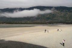 Sjö i Patagonia royaltyfria bilder