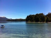 Sjö i Patagonia Argentina Arkivfoton