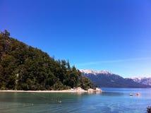 Sjö i Patagonia Argentina Fotografering för Bildbyråer