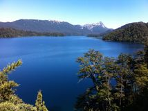 Sjö i Patagonia Argentina Royaltyfri Bild
