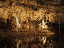 Sjö i Punkva grottor Royaltyfri Foto