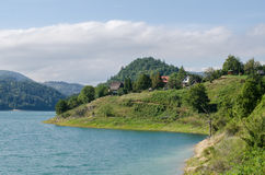 Sjö i Serbien Fotografering för Bildbyråer