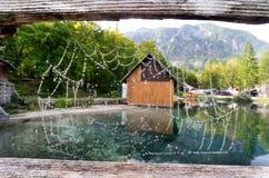 Sjö i Slovenien royaltyfri foto