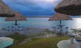 Sjö i soluppgången Fotografering för Bildbyråer