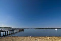 Sjö i sommar Fotografering för Bildbyråer