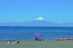 Sjö i staden av frutillar Chile royaltyfri fotografi