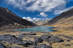 Sjö i Tadzjikistan Arkivbild