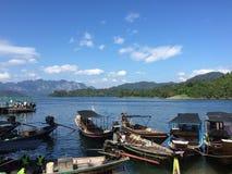 Sjö i Thailand Arkivbild