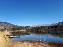 Sjö i Underbergen, Sydafrika Royaltyfria Foton