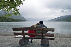 Sjö i Ushuaia royaltyfria bilder