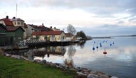 Sjö i Västervik, Sverige, Skandinavien arkivbild