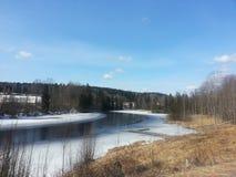 Is sjö i vinter Royaltyfria Foton