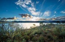 Sjö Jindabyne i NSW Arkivfoton