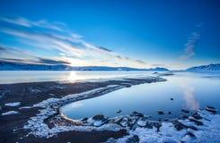 Sjö Kleifarvatn, Island Arkivbilder