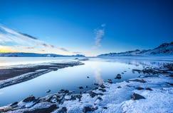 Sjö Kleifarvatn, Island Arkivbild