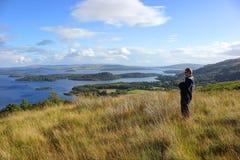 Sjö Loch Lomond, Skottland Arkivbilder