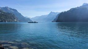 Sjö Lucerne - Schweiz Arkivbilder