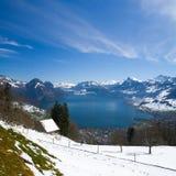 Sjö Luzern, Schweiz Royaltyfria Foton