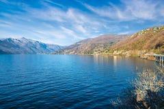Varese Italien maccagno på sjön maggiore landskap av varese italien arkivfoto