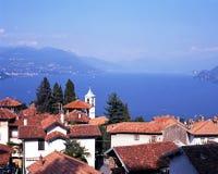 Sjö Maggiore, Stresa, Italien. arkivbilder
