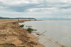 Sjö Malawi som ses från Chitimba, Malawi Royaltyfri Bild