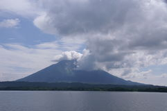 Sjö Managua i Nicaragua Arkivbilder