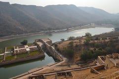 Sjö Maota i Jaipur, Rajasthan Indien Arkivbild