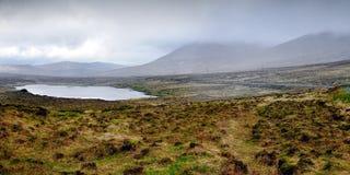 Sjö nära det Errigal berget royaltyfria foton