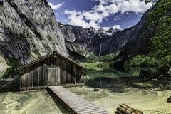 Sjö Obersee, Bayern, Tyskland royaltyfria foton