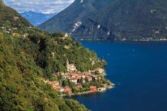 Sjö- och berglandskap royaltyfri fotografi