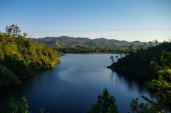 `-Sjö- och lagun` Lagunas de Montebello, Chiapas royaltyfri foto