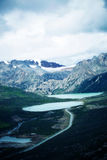 Sjö och snöberg i Tibet, porslin Royaltyfri Foto