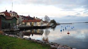 Sjö och Västervik, Sverige, Europa arkivbild
