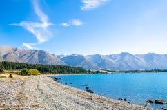 Sjö Ohau, Nya Zeeland Royaltyfri Fotografi