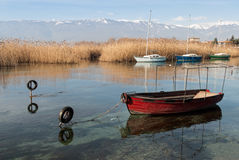 Sjö Ohrid, Republiken Makedonien (FYROM) Royaltyfria Bilder