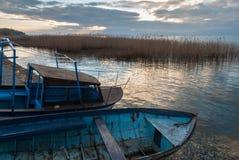 Sjö Ohrid, Republiken Makedonien (FYROM) Fotografering för Bildbyråer