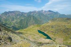 Sjö på gränsen Andorra-Frankrike Arkivbilder