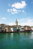 Sjö på Zurich Royaltyfria Foton
