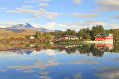 Sjö Pehoe, Torres Del Paine, Patagonia, Chile Royaltyfri Fotografi