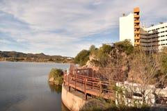 Sjö Potrero de los Funes, San Luis, Argentina arkivbilder