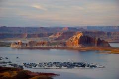Sjö Powell, nära sidan, Arizona Fotografering för Bildbyråer