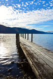 Sjö Rotoroa, Nelson Lakes National Park, Tasman, Nya Zeeland Royaltyfri Foto