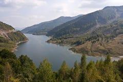 Sjö Siriu i Rumänien Arkivbild